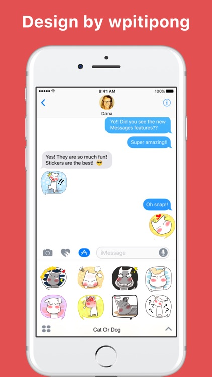 Cat Or Dog stickers by wpitipong
