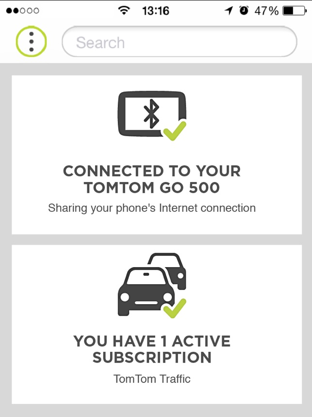 tomtom mydrive connect stop download