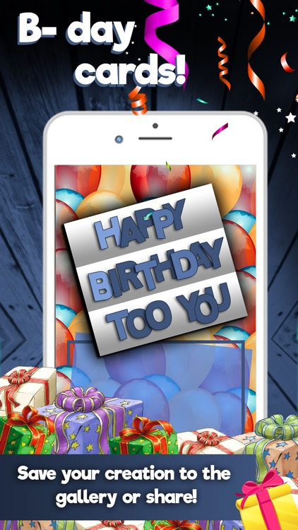 Happy Birthday Cards Maker – Create Best Free eCards and Invitation.s screenshot-3