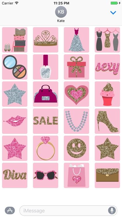 Glitter Girl animated Stickers screenshot-3