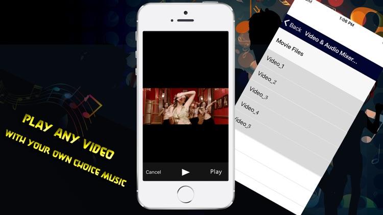 Video & Audio Mixer as Background Music screenshot-3