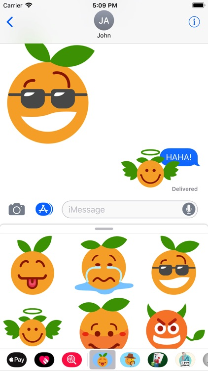 Clementine Orange Stickers