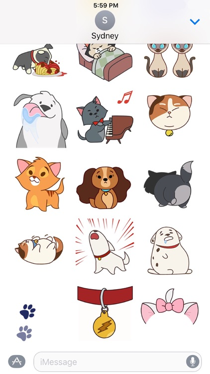 Disney Stickers: Cats and Dogs
