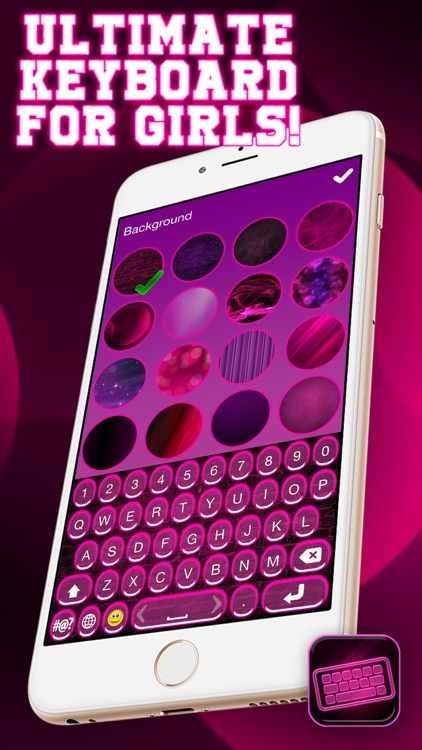 Neon Pink Keyboard – Cool Text Fonts and Backgrounds with Emoji Art for iPhone