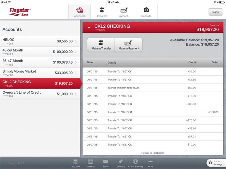 Flagstar Bank for iPad screenshot-3