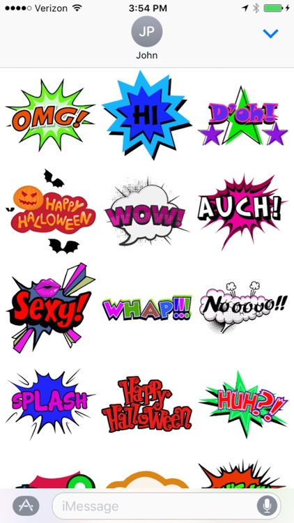 Comic Stickers for iMessages screenshot-3