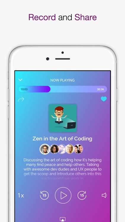 ZCast - Podcast From Your Phone! Record and Share! screenshot-2