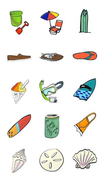 Beach Stuff Stickers
