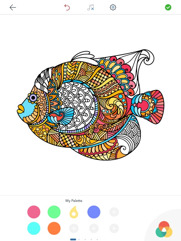 Screenshot 4 For Adult Animal Coloring Pages