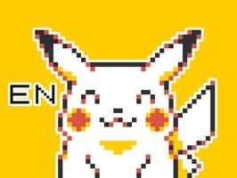 Pokémon Pixel Art, Part 1: English Sticker Pack
