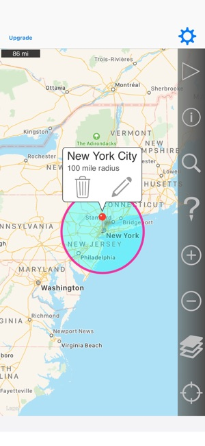 Radius On Map on the App Store on custom radius map, 400 miles by 300 miles map, radius point on a map, printable radius map, google maps radius tool map,