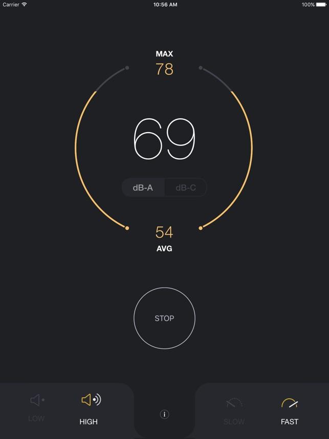 Schallpegelmesser - Messung der Umgebungsgeräusche Screenshot
