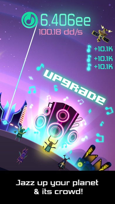 Groove Planet - Rhythm Clicker Screenshot on iOS