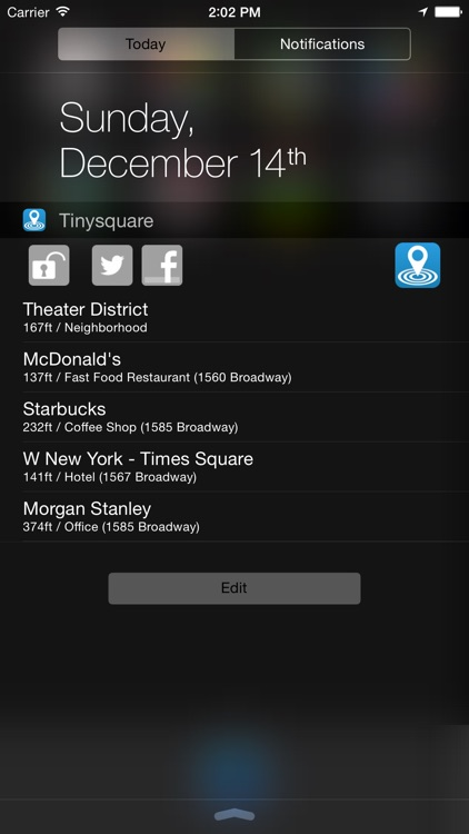 Tinysquare for Foursquare screenshot-0