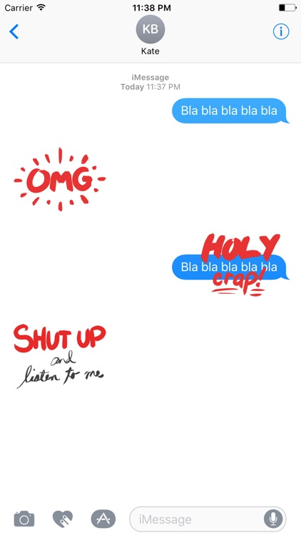 QUOTEs Stickers for iMessage screenshot-3