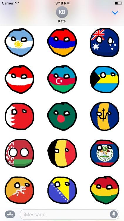 Countryballs iMessage Stickers
