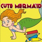 mermaid ariel games free coloring pages for girls icon