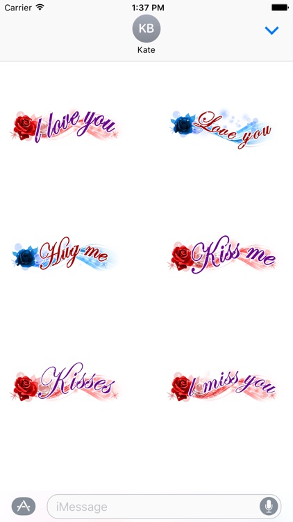 Love Messages Sticker - love stickers for iMessage