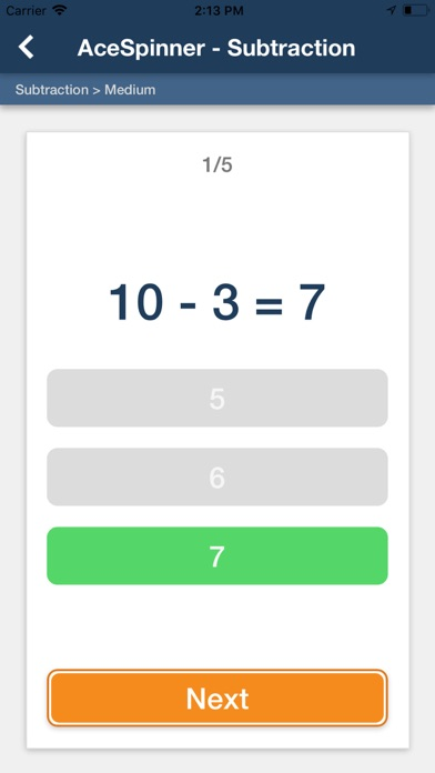 Ace Spinner Math Games Lite screenshot 5