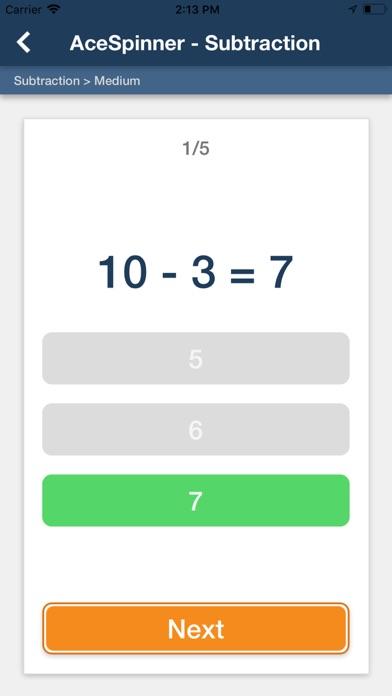 Ace Spinner Math Games Lite screenshot 5