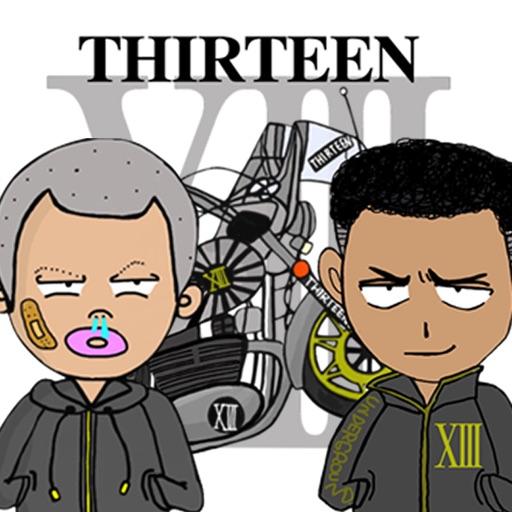 Thirteen Japan・リアルアウトローステッカー