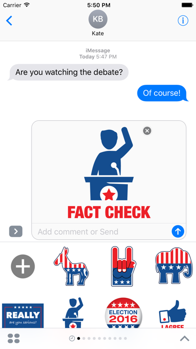 Election 2016 - MYOSE: Make Your Own Sticker Emoji screenshot three