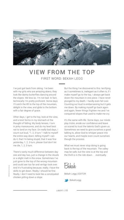 Liberti Magazine – Faith with Attitude