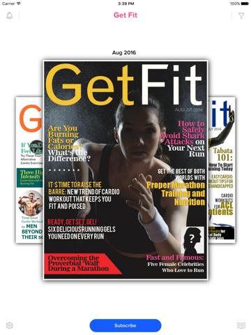 Screenshot of Get Fit Magazine