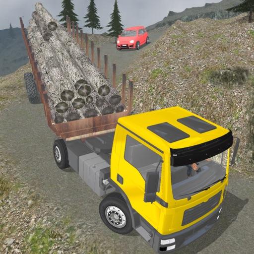С дороги грузовой тяжелый трейлер грузовик моделир