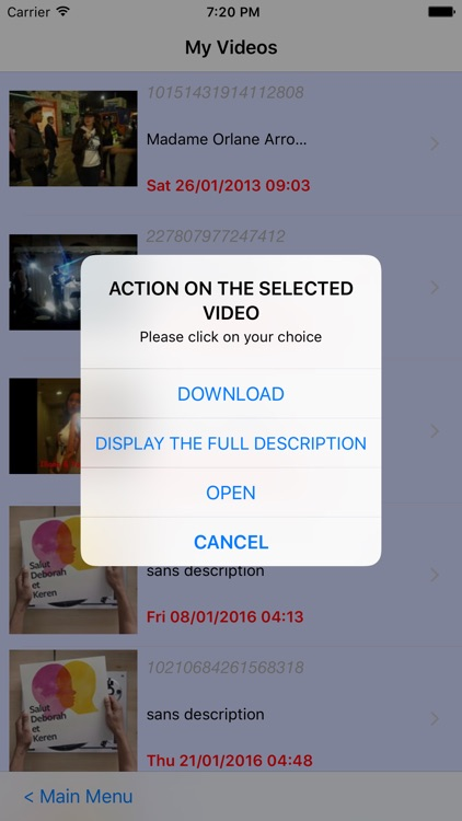 Albums, pictures and Videos Downloader screenshot-4