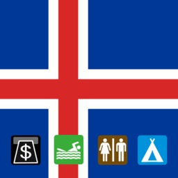 Leisuremap Iceland, Camping, Golf, Swimming, Car parks, and more