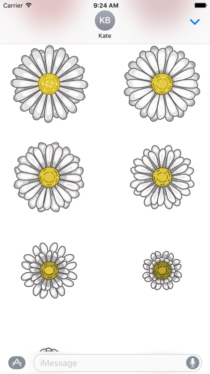 Flower Stickers for iMessage