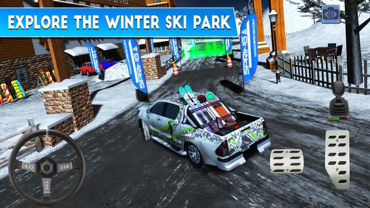 Winter Ski Park: Snow Driver