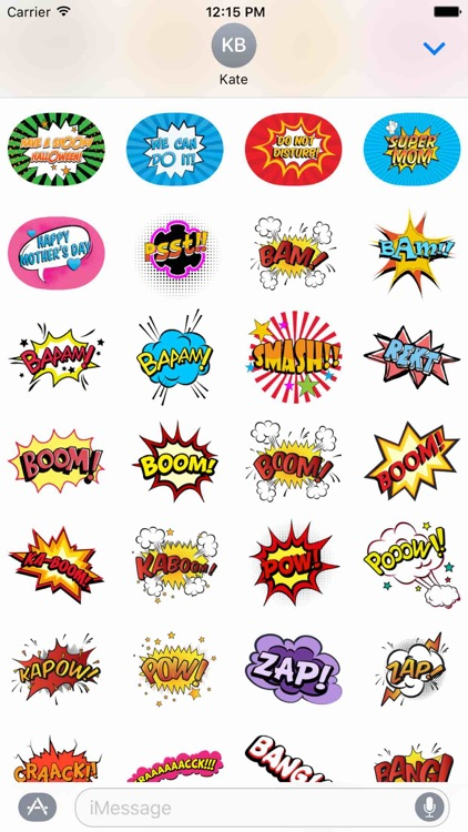 Comic Stickers Pack! screenshot-3