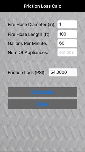 Friction Loss Calc