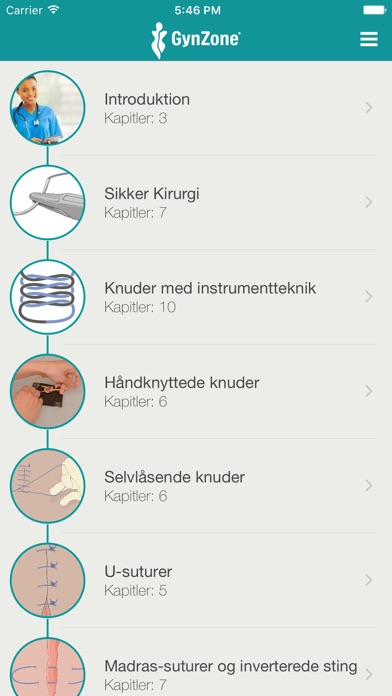 Screenshot for Kirurgisk Teknik   - Lær at suturere in Denmark App Store