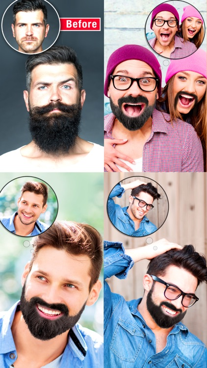 Mooch - Beard & Mustache Photo Editor for Men Face