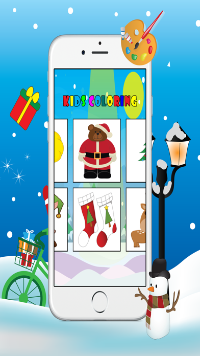Christmas Coloring Book - Free Kids Colors Pages screenshot three