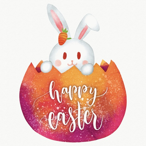 Watercolor Easter Day Stickers