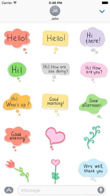 Say Hello - stickers with wishes and greetings