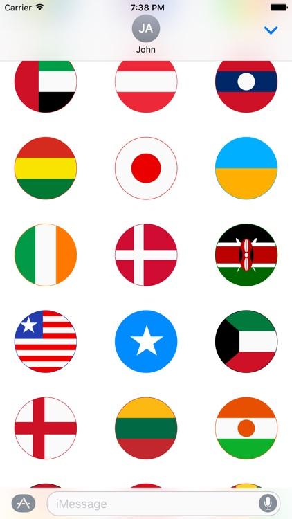 World Flag Stickers for iMessage screenshot-4