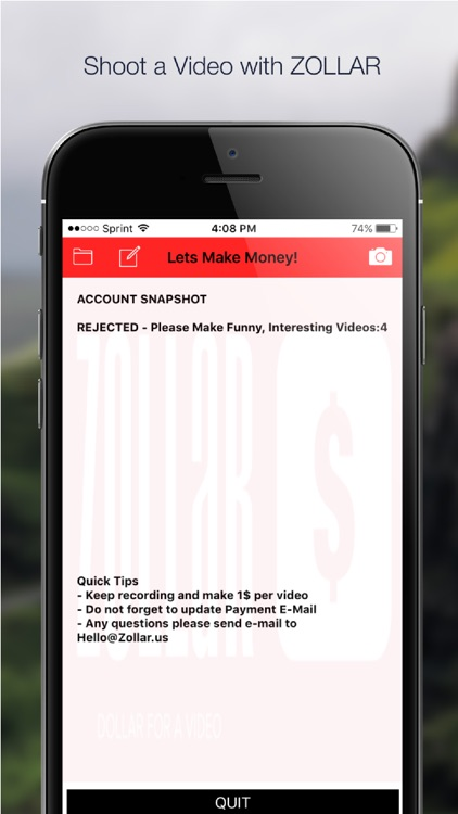 ZOLLAR - Share Video, Get Paid by BURAK KEBAPCI