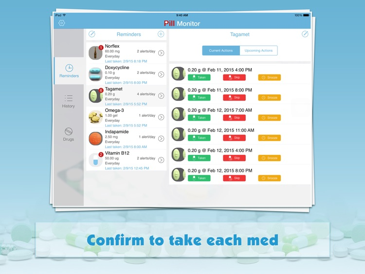 Pill Monitor for iPad - Medication Reminder & Log
