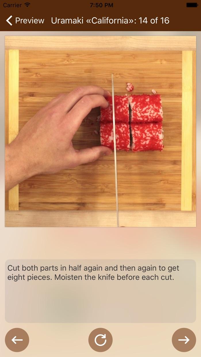 How to Make Sushi - Photo Cookbook Screenshot
