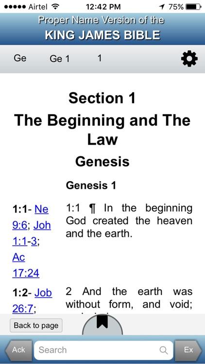 Proper Name Version KJ Bible screenshot-3