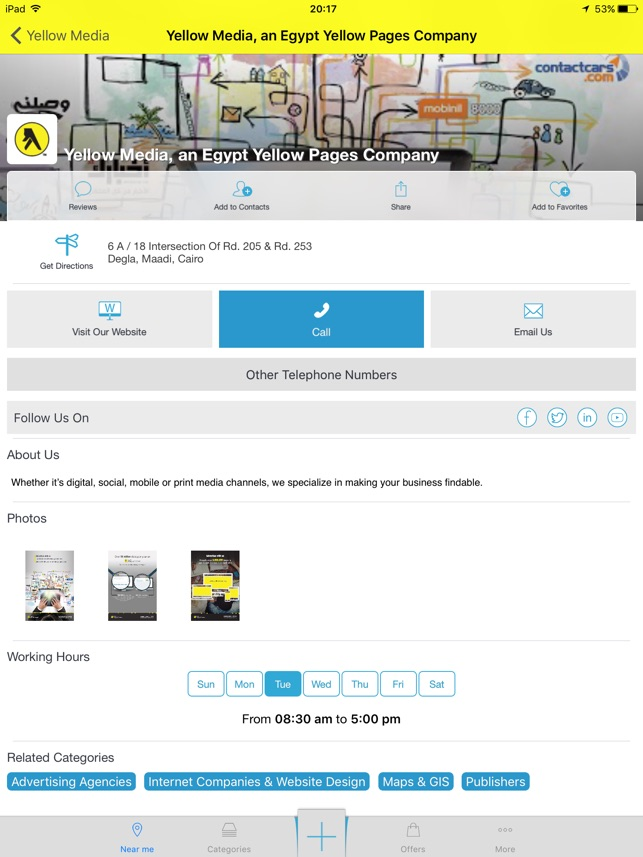 Egypt Yellow Pages on the App Store
