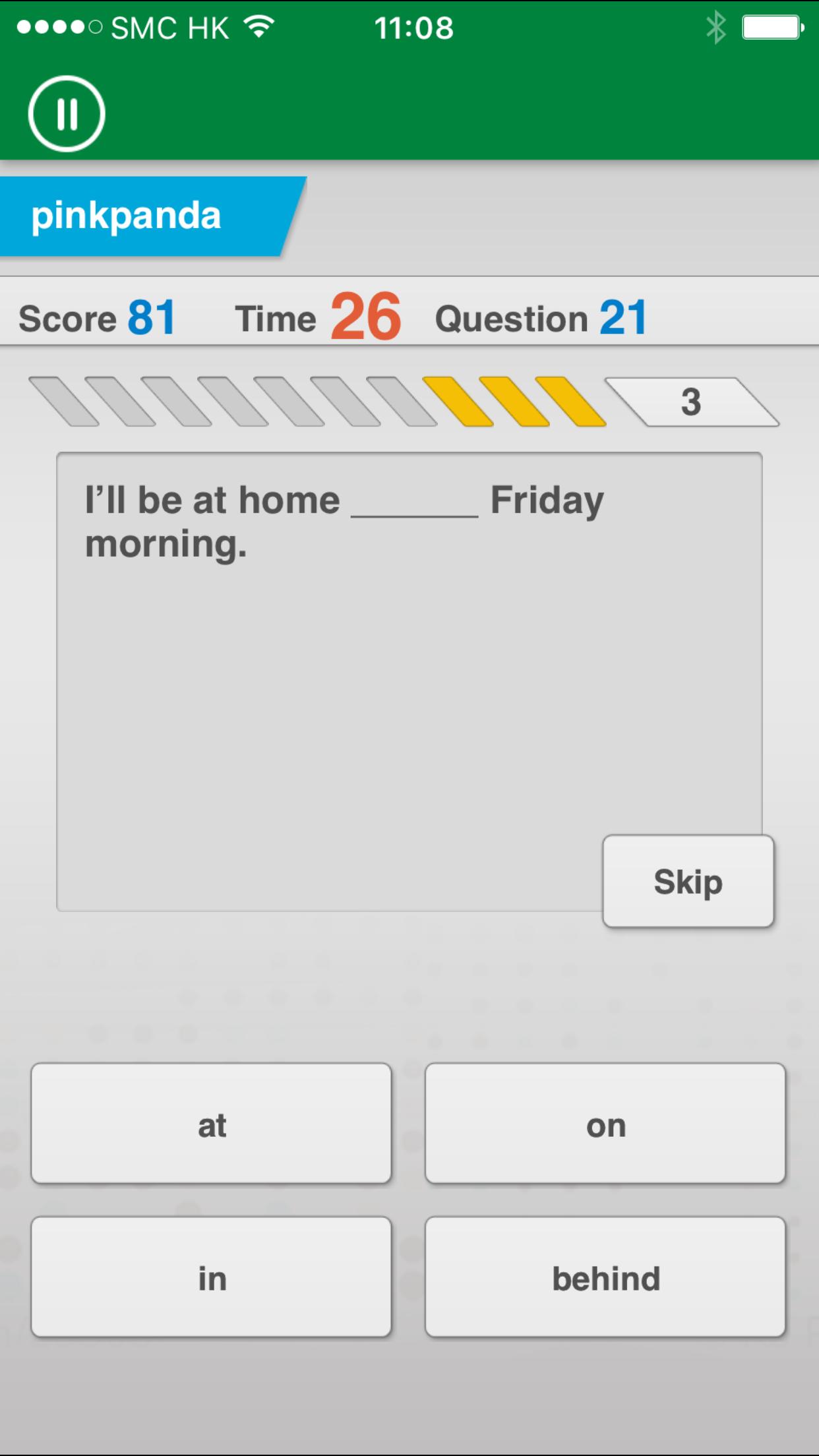 Johnny Grammar Word Challenge Screenshot