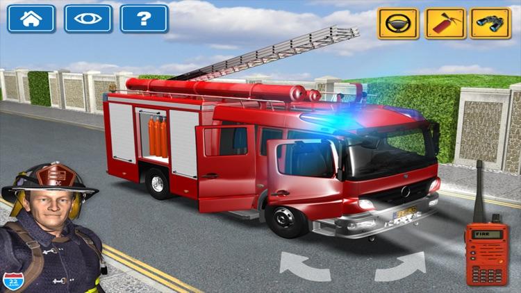 Kids Vehicles Fire Truck games screenshot-4