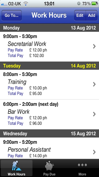 Easy Pay Diary screenshot-0