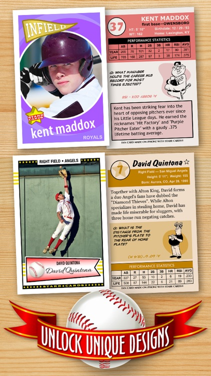 Baseball Card Maker (Ad Free) — Make Your Own Custom Baseball Cards with Starr Cards
